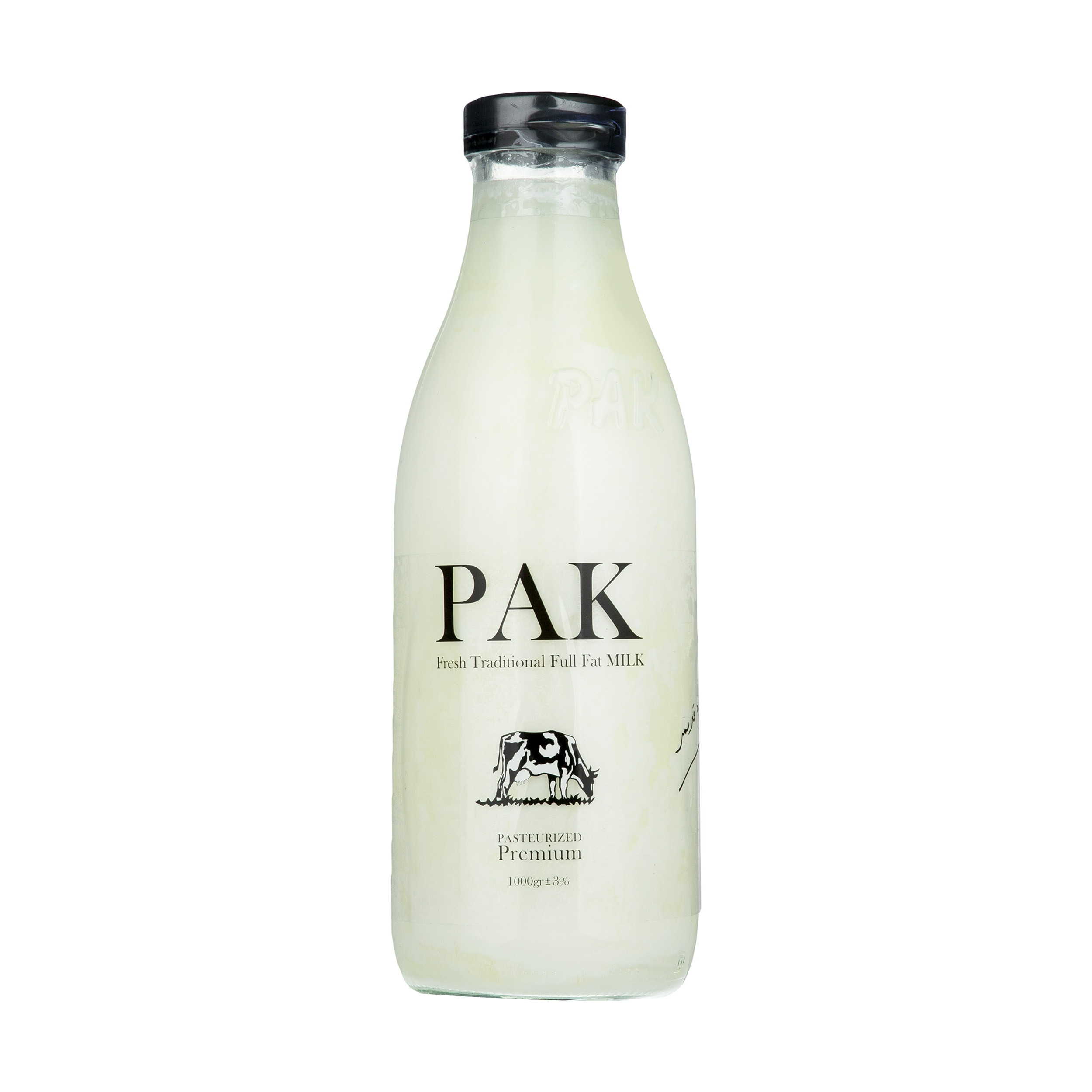 شیر شیشه ای پرچرب 1لیتری پاک