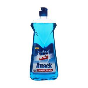 مایع ظرفشویی 1لیتری آبی اتک