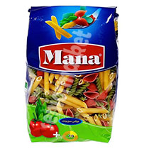 ماکارونی فرمی مته ای سبزیجات مانا