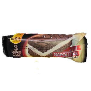 بنیس کیک 3لایه وانیلی کاکائویی ناپولی70گرم