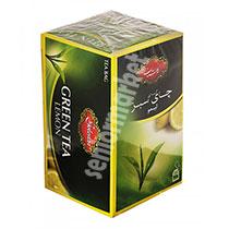 چای سبز کیسه ای 25عددی گلستان با طعم لیمو