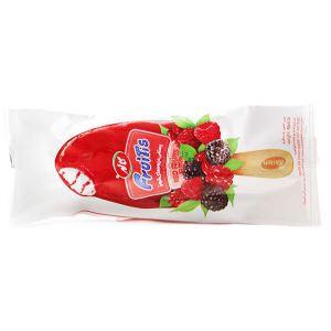 بستنی میوه های قرمز کاله