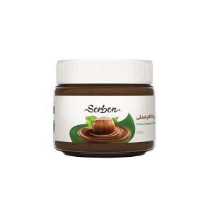 شکلات صبحانه فندقی300گرم شیشه sorbon
