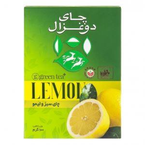 چای سبز و  لیمو 100گرم دوغزال