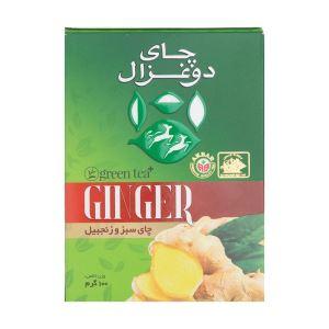 چای سبز و زنجبیل 100گرم دوغزال