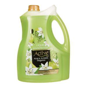 مایع دستشویی صدفی حاوی پروتئین سویا 3750گرمی سبز اکتیو