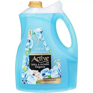 مایع دستشویی صدفی حاوی پروتئین سویا 3750گرمی آبی اکتیو