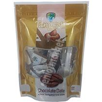 خرما شکلاتی نسکافه ای بامغز بادام 250گرم تنگسیر