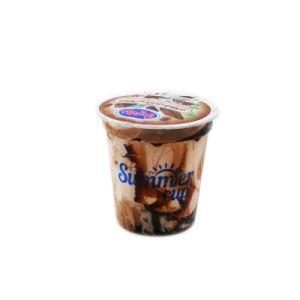 بستنی لیوانی شکلات با سس شکلاتی دومینو