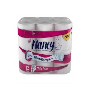 دستمال توالت 12 قلو نانسی